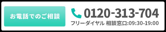 フリーダイヤル 0120-313-704